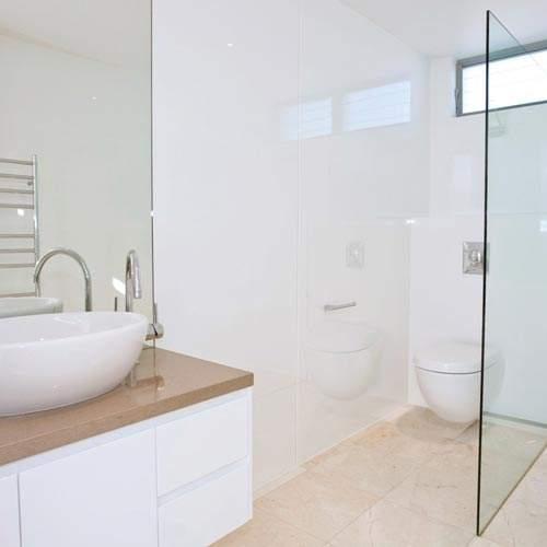 Lustrolite Arctic High Gloss Glass Effect Bathroom Wall Panel