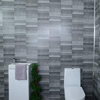 Claddtech Dark grey bathroom wall panels splashbacks - small tile