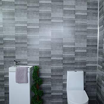 Claddtech Dark grey bathroom wall panels splashbacks - small tile