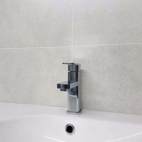 Galet Light Grey. Tile Effect Bathroom Wall Panels