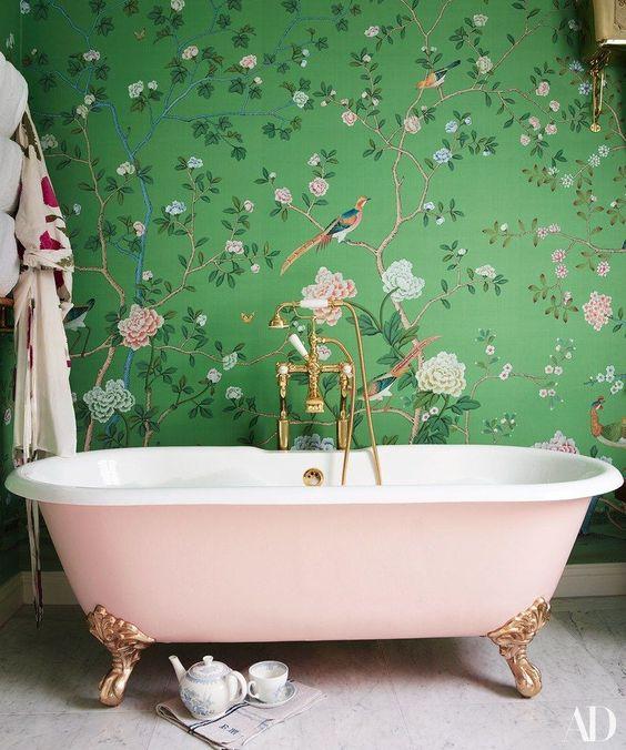 15 Catchy Bathroom Wallpaper Ideas - Shelterness