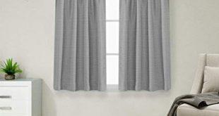 Amazon.com: jinchan Waffle Weave Half Window Curtains for Kitchen