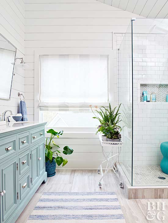 Bathroom window treatments are   an essential step for renovating your bathroom