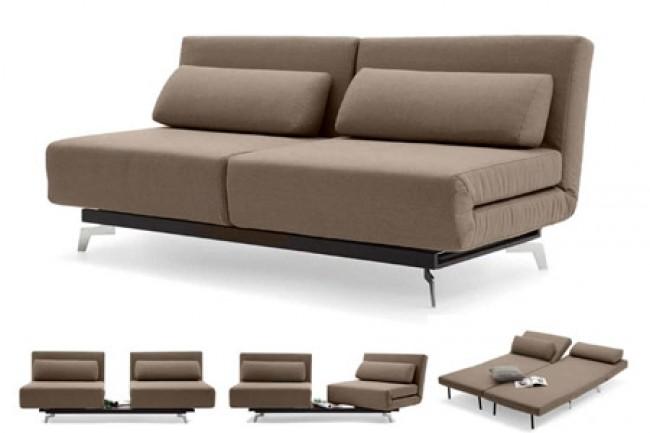 Brown Contemporary Convertible Sofa Bed | Apollo Bark | The Futon Shop