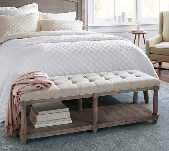 Berlin Tufted Bench | Pottery Barn