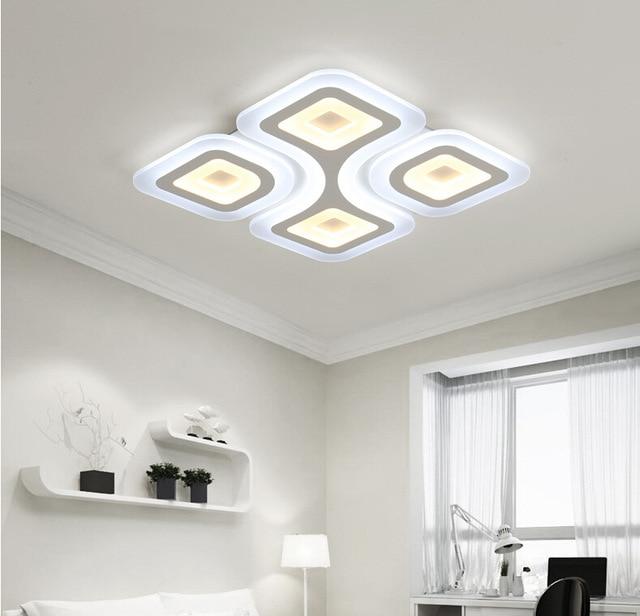 Modern Square LED Ceiling Light Acrylic Living Room Bedroom Ceiling