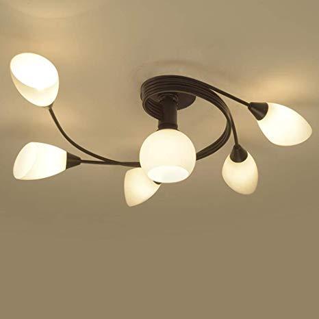 Joypeach Rustic Style LED Flush Mount Ceiling Lights, Creative