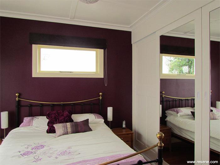 A modern bedroom colour scheme