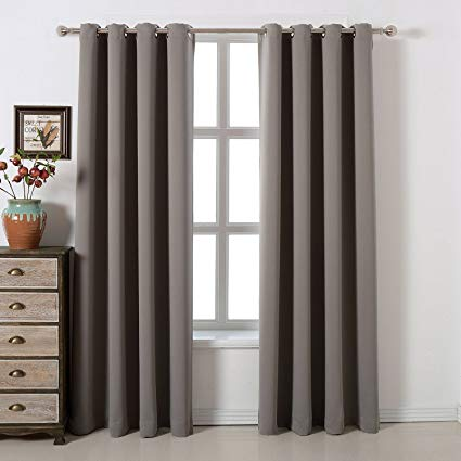 Amazon.com: acelitor Blackout Bedroom Curtains Set 100% Polyester