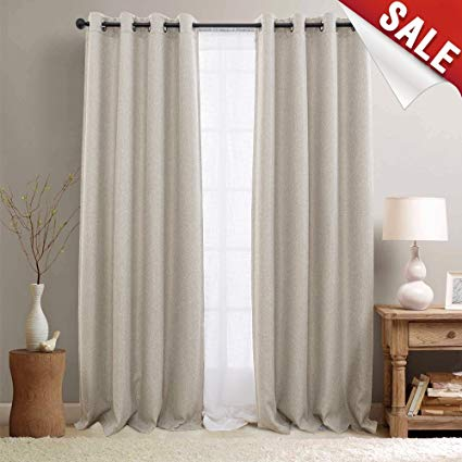 Amazon.com: Curtains for Bedroom Linen Textured Room Darkening