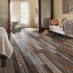 An artistic bedroom flooring   creates classiness in your bedroom