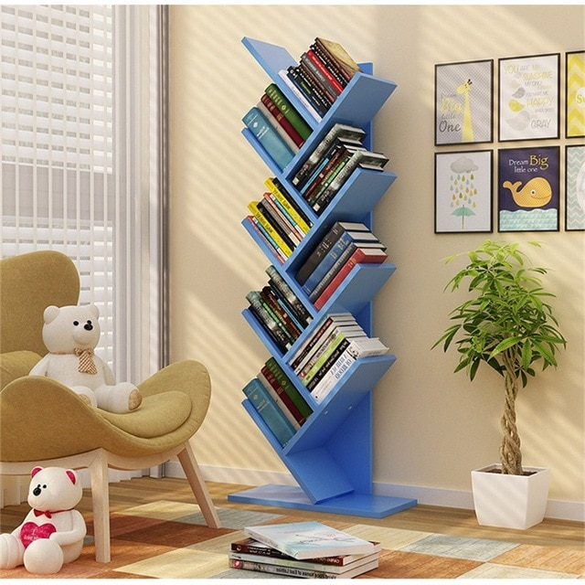 134cm 9 layers Creative tree style Bookcases Portable shelves