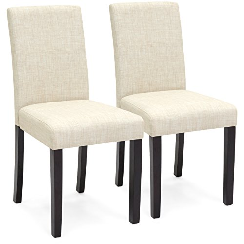 Amazon.com - Best Choice Products Set of 2 Fabric Parsons Dining