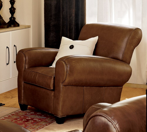 Manhattan The Best Leather Recliner From Pottery Barn Wood And
