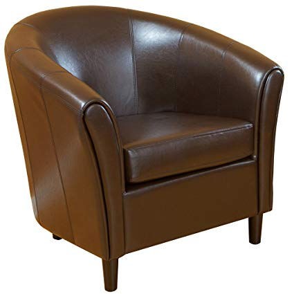 Amazon.com: Best-selling Napoli Brown Leather Chair: Kitchen & Dining