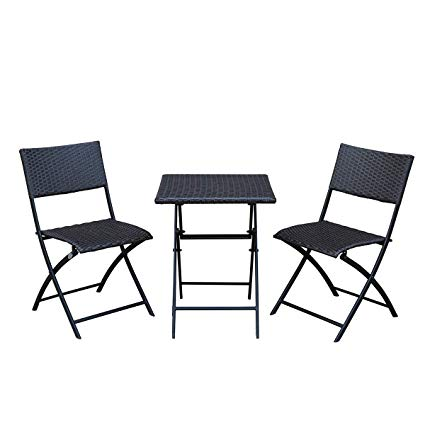 Amazon.com: SunLife Bistro Sets, Outdoor Folding Table with Chairs