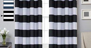 Amazon.com: Turquoize Striped Blackout Curtains Elegant Grommet