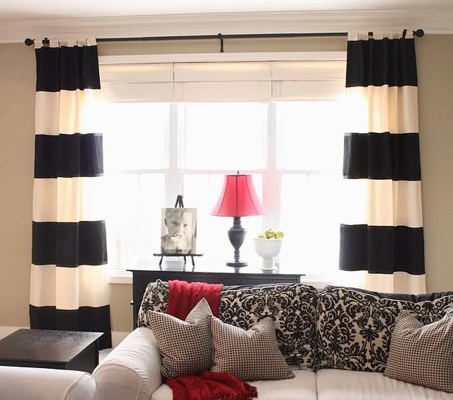 Wide array in Black And White Curtains | Drapery Room Ideas | Wide