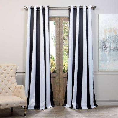 Exclusive Fabrics & Furnishings - Grommet - Black - Curtains