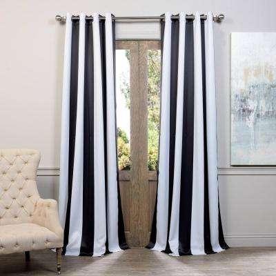 Exclusive Fabrics & Furnishings - Grommet - Black - Curtains