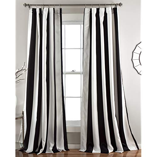 Choosing black and white   striped curtains