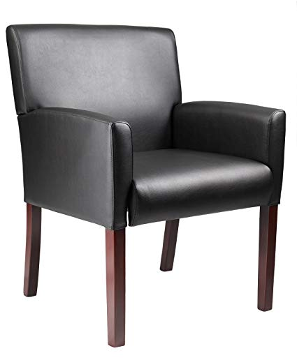 Amazon.com: Boss Office Products B629M Reception Box Arm Chair with