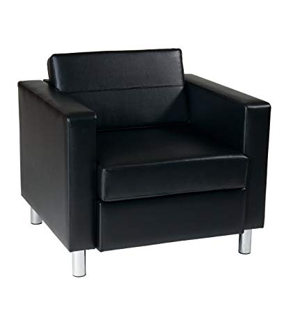 Amazon.com: Ave Six Pacific Vinyl Arm Chair with Spring Seats and