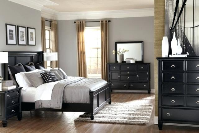 Pictures Of Bedrooms With Black Furniture Stylish Black Bedroom