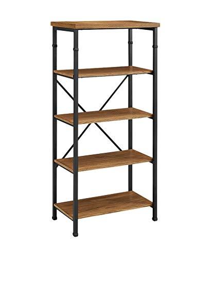 Amazon.com: Austin Open Bookshelf u2014 Black and Ash: Kitchen & Dining