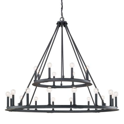 Capital Lighting Fixture Company Pearson Black Iron Twenty Four
