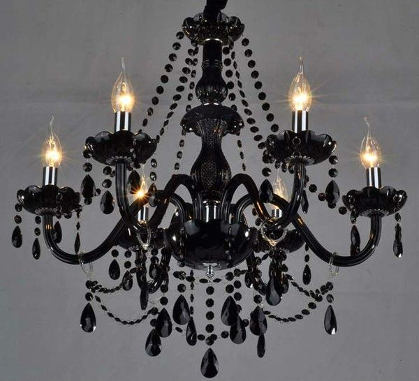 Black Chandelier DIY -- but all white to hang above the altar. I can