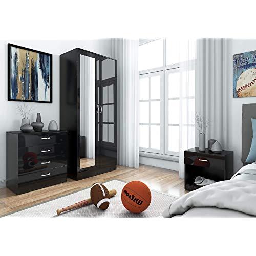 Black Gloss Bedroom Furniture: Amazon.co.uk