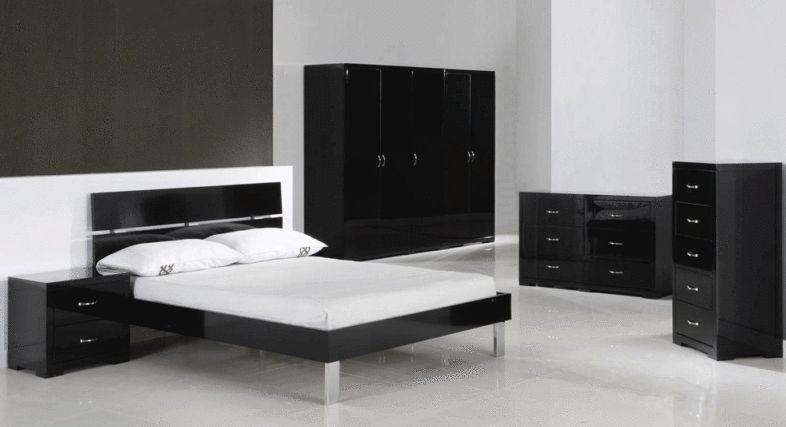 Beautiful Black Gloss Bedroom Furniture high gloss black - Home Design