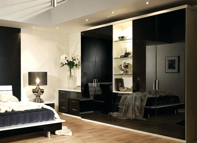 Black Gloss Bedroom Furniture Beech And Black Gloss Bedroom