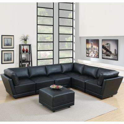 6 People - Faux Leather - Sectionals - Living Room Furniture - The
