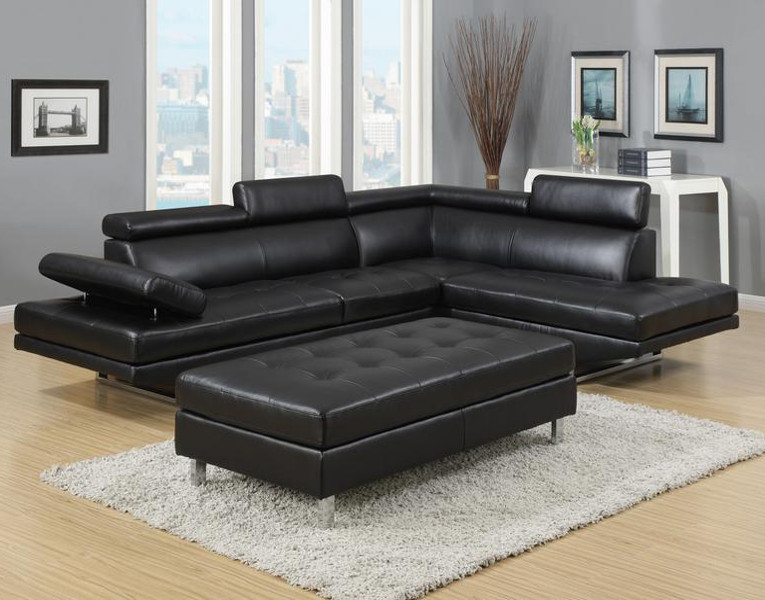 Trendy black leather sectional sofas - CareHomeDecor