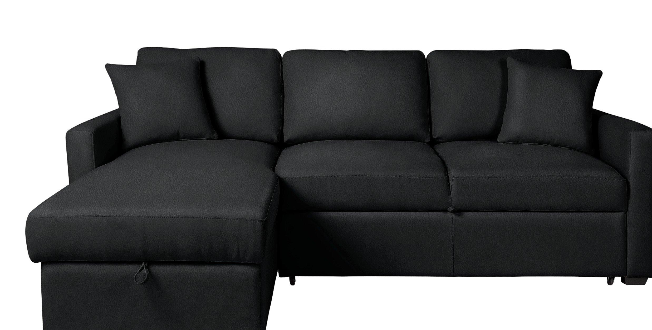Buy Argos Home Reagan Left Corner Faux Leather Sofa Bed - Black