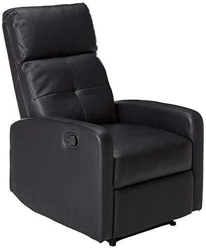 Amazon.com: Great Deal Furniture Teyana Black Leather Recliner Club