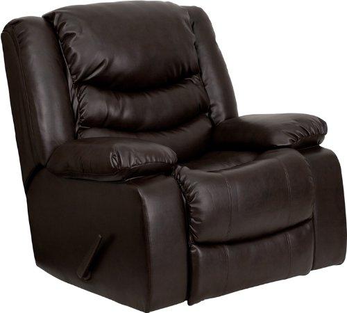 Amazon.com: Flash Furniture Plush Brown Leather Lever Rocker