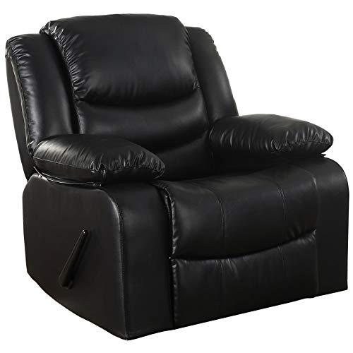Black Leather Recliners: Amazon.com