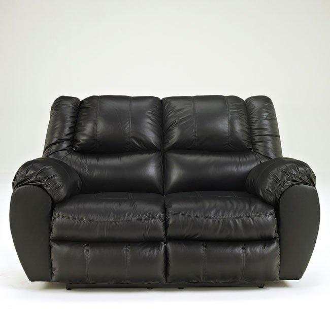McAdams Black Reclining Loveseat Signature Design | Furniture Cart