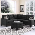 Seating furniture – black   sectional sofa