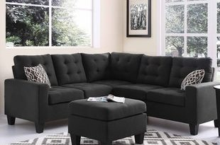 Black Sectional With Ottoman | Wayfair