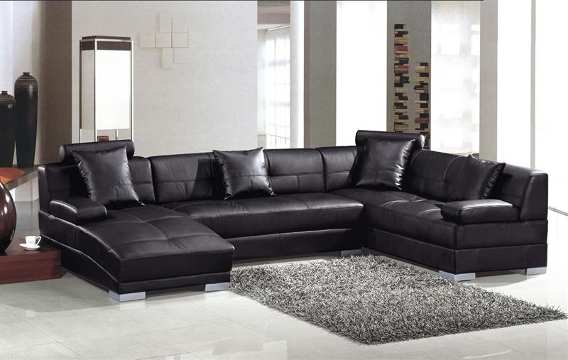 Modern Black Sectional Sofa Set TOS-LF-3334
