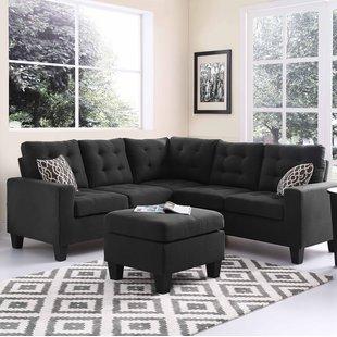 Seating furniture – black   sectional sofa