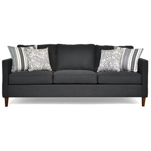 Modern & Contemporary Black Fabric Sofa | AllModern
