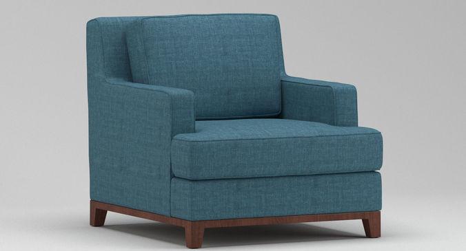 3D model Light Blue Armchair | CGTrader