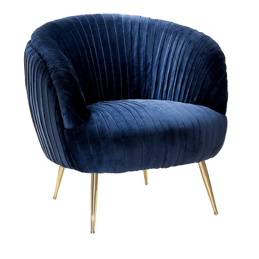 Kellit Royal Blue Armchair - Shop Abhika online at Artemest