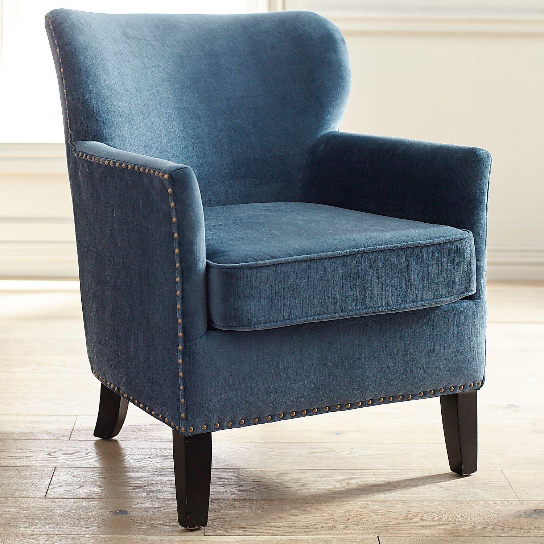 Lyndon Ink Blue Armchair | Pier 1