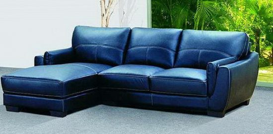 2018 trendy blue leather sofas for bright homes
